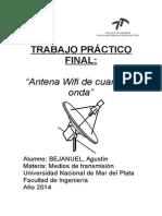 Antena wifi casera. Informe, instrucciones y fundamentacion teorica
