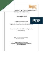 AUTOEVALUACIÓN Lineamientos Grales Carrera Mag