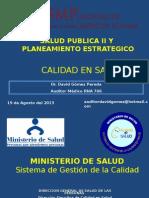 Calidad en Salud David Gomez 2013