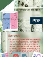 Stereotipurile de Gen