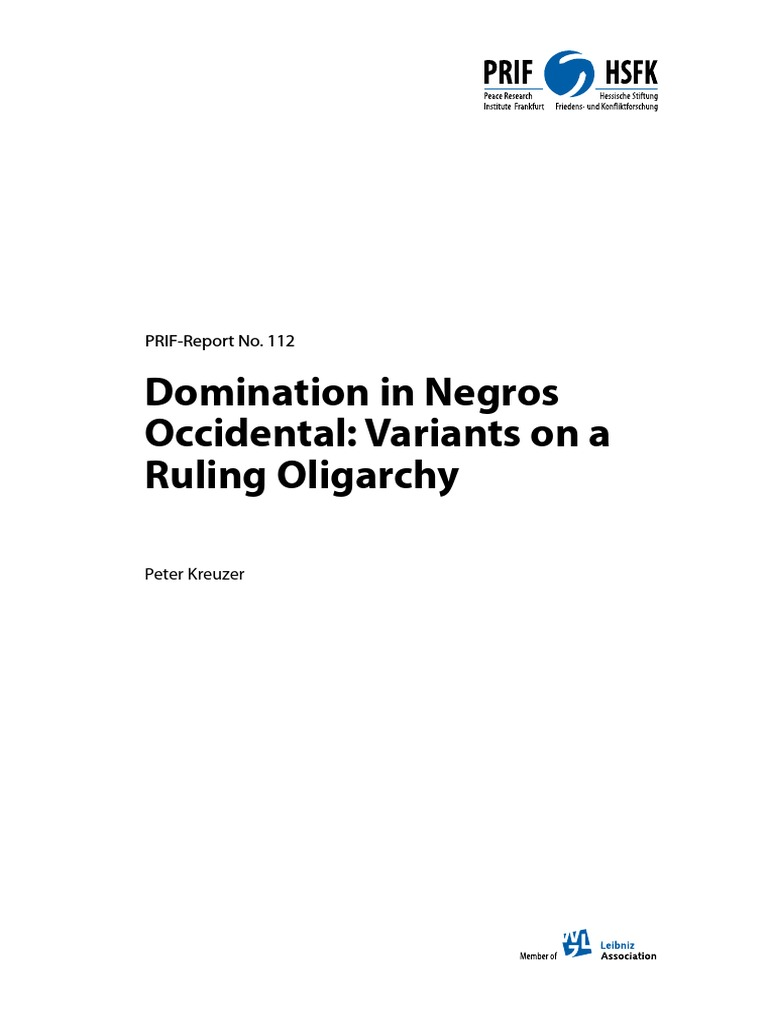 The Domination of Negros Occidental by the Wealthy