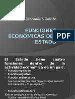 Economía y funciones del estado.
