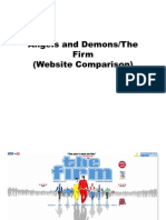 Angels and Demons - Website Comparison