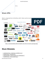 Music APIs _ Music Machinery