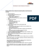 Regras Gerais Para Formatar Dissertações de Mestrado No UniCeub