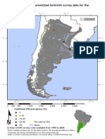 Global Atlas of Helminth Infections - Distribution of Soil Transmitted Helminth Survey Data in Argentina - 2014-04-01