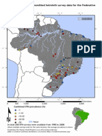 Global Atlas of Helminth Infections - Distribution of Soil Transmitted Helminth Survey Data in Brazil - 2014-03-31