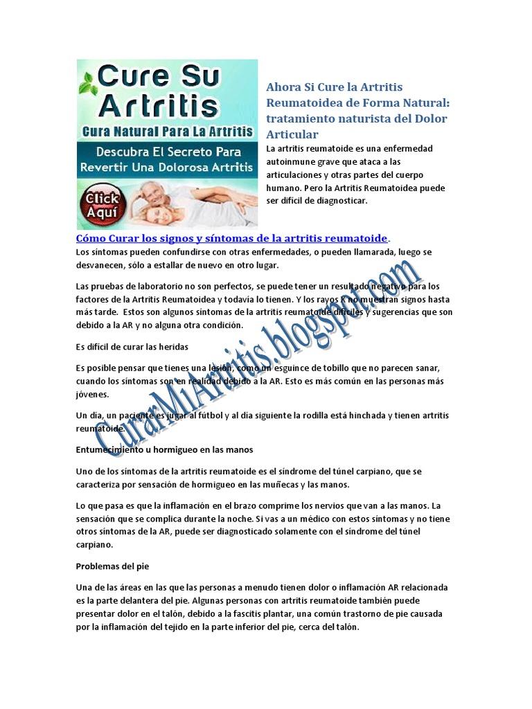 Como curar naturalmente la artritis reumatoidea