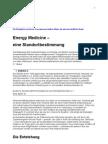 Energiemedizin, Teil 1, von PD Dr. med. Hendrik Treugut, Eine Standortbestimmung 2007