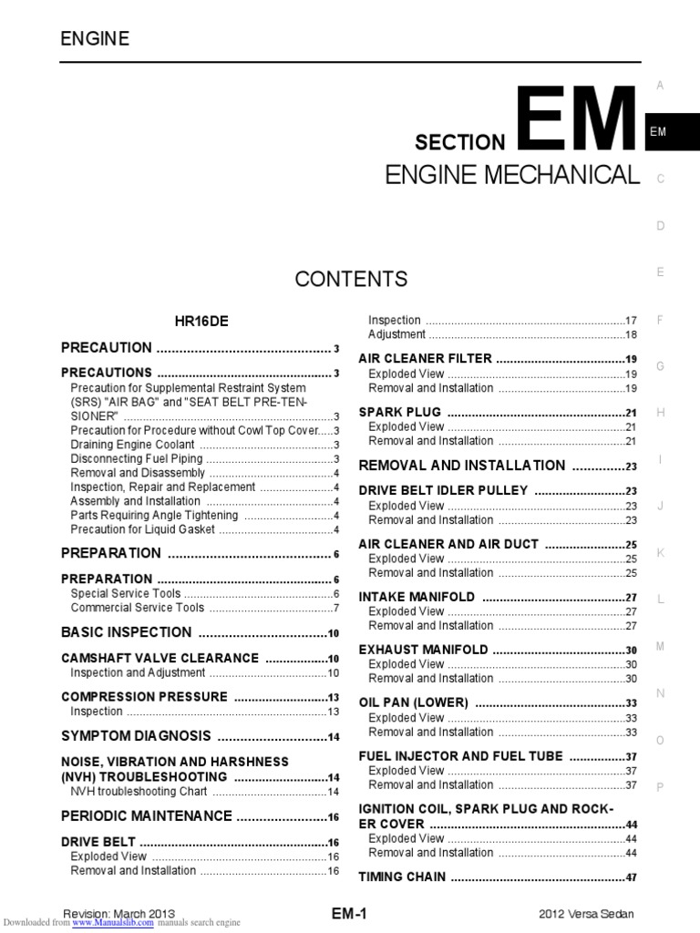 Nissan Sentra Service Manual: P0014 EVT control