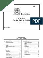 2016 City of Peterborough draft capital budget