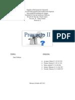 Informe de Proyecto II. Profesor Juan Cadenas