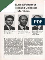 JL-88-September-October Flexural Strength of Prestressed Concrete Members