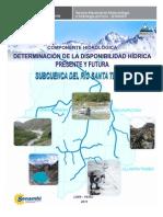 8 (PRAA) Disponibilidad Hidrica Actual y Futura Al 2030 Subcuenca Santa Teresa - Cusco