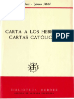 Kuss, Otto, Michl j., Carta a Los Hebreos - Cartas Católicas, Herder, Barcelona, 1977
