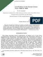 Lorentz - Mathematics and Politics in the Soviet Union From 1928 to 1953