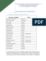 4. Diagnóstico de Personal y Organización