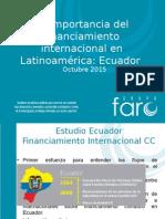 La importancia del financiamiento climático Ecuador