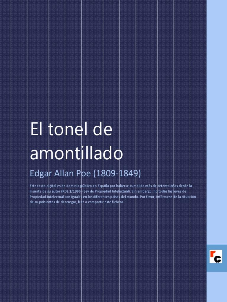 El Tonel De Amontillado Pdf Download