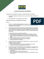 Organización del Congreso de la República del Perú