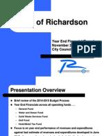 Richardson FY2014-2015 financial report