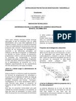 Proceso Gestión o Administración de Proyectos de Investigación y Desarrollo