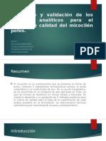 Desarrollo y Validación de Los Métodos Analíticos Para
