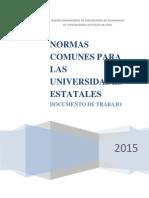 Propuesta FAUECH Normas Comunes Para Universidades Estatales