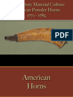 Military - Arms & Accoutrements - Powder Horns American 1770 - 1785
