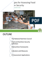 Methodologies for Assessing Food and Nutrition Security