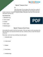 383 Sports Hunt Clues