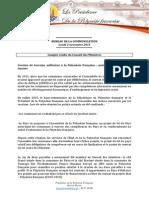 Compte Rendu Du Conseil Des Ministres - Lundi 2 Nov 2015 (2)
