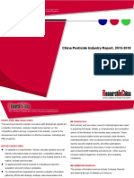 China Pesticide Industry Report, 2015-2018