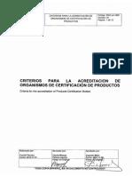 Criterios Acreditacion Organismos CertificacionProductos