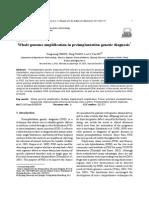 Whole Genome Amplification in Preimplantation Genetic Diagnosis