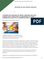 Multiplicação e Divisão Já Nas Séries Iniciais _ Matemática _ Nova Escola