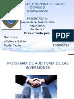Programa de Auditoria (Inversiones)