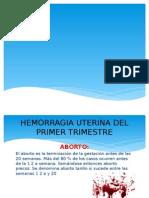 Hemorragias Del Primer Trimestre