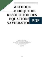 Methode Numerique de Resolution Des Equations de Navier-stokes