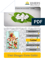 Unit Dosages Form Tablet an Overview