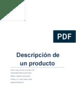 Descripción de Un Producto