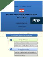 Powerpoint Plan de Transition Energetique 2015-2030
