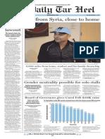 The Daily Tar Heel for Nov. 3, 2015