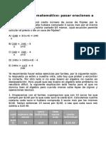Razonamiento matemático