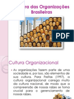 Cultura Das Organizações Brasileiras.