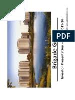 Investor Presentation - Q2 FY 2015-16 [Company Update]