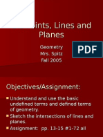 1.2 Points, Lines & Planes