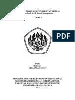 Tugas I Filsafat Teori Dan Pendekatan Sistem Hartanto NPM. 170330150019
