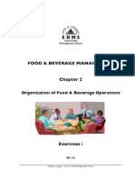 Food & Beverage Operations Information