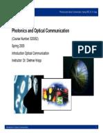 1c Introduction Optical Communication